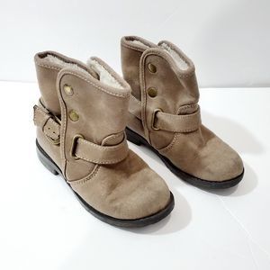 Harper Canyon suede taupe winter toddler boots EUC